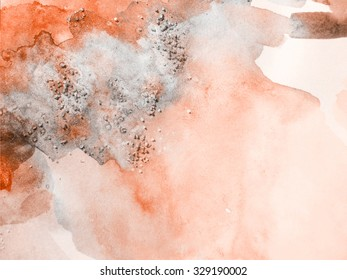 Watercolor vintage background. Hand drawn colorful template can be used for web pages, banners, cards.