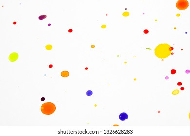 Watercolour Coloured Paint Drips Splatters and spots for Background