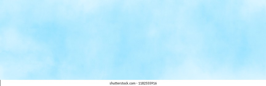 watercolour painting blue sky overcast above the cloud in panorama view beautiful cloudscape for background