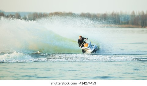 Watercraft. water bike. hydrocycle. Active rest on water
