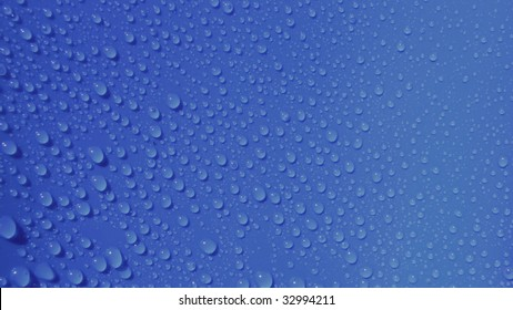 waterdrops on blue background