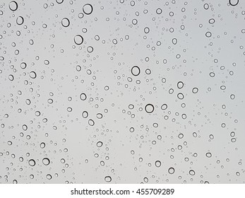 Waterdrops on a glass surface