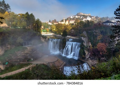 waterfal city  Jajce  ,Bosnia