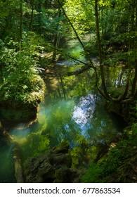 Waterfal La Vaioaga in Cheile Nerei national park -Romania