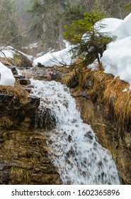 Waterfall in the Alps on Mountain Wank Germany