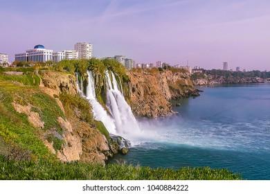Waterfall in Antalya, Turkey