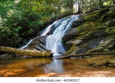 Waterfall from the Appalachian Trail  Appalachian Trail, Appalachian Mountains, Georgia