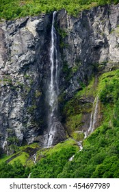 Waterfall in the area of Geirangerfjord, Norway.
