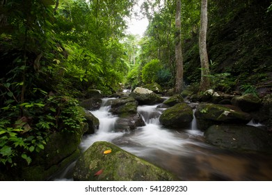Waterfall in autumn forest at Krok - E -Dok waterfall at Khao Yai National Park,Thailand.