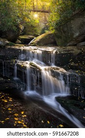 Waterfall and autumn leaves, West Virginia