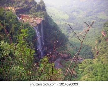 Waterfall in Bamboo Sea, Yibin
