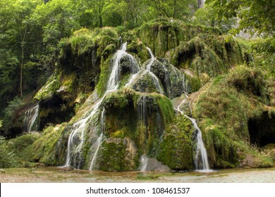 Waterfall at Baume les Messieurs, Jura - France
