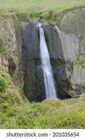 Waterfall to the beach
