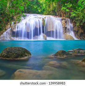Waterfall  beautiful asia Thailand