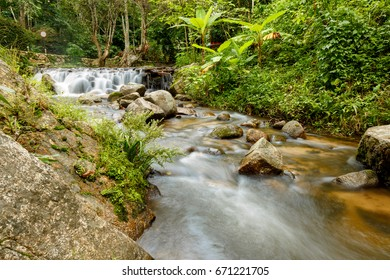 Waterfall, the beautiful waterfall in deep forest at Chiang Mai, Thailand