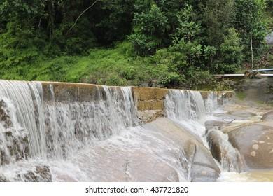 Waterfall. Beautiful waterfall landscape. Waterfall cascades in forest. Pernambuco, Brazil