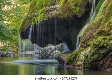 Waterfall Bigar. Located at the intersection with the parallel 45 in Romania.
