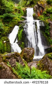 Waterfall in the Black Forest in Triberg