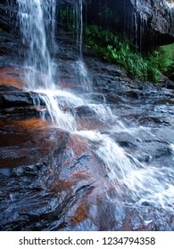 Waterfall in the Blue Mountains of New South Wales in Australia