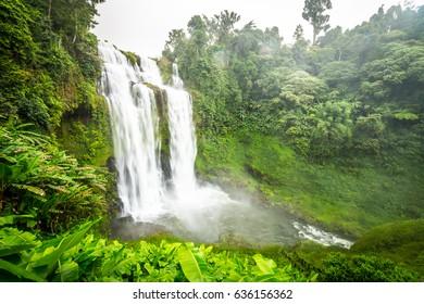 Waterfall at Bolaven Plateau, near Pakse, Laos.