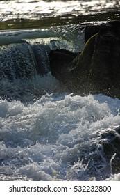 Waterfall in bright sunshine