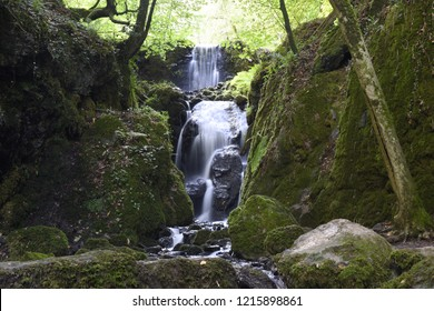 Waterfall at Canonteign Falls - Devon, England