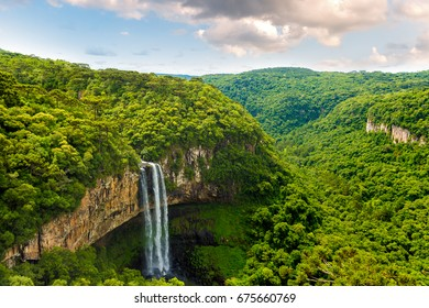 Waterfall in Caracol Park in Rio Grande do Sul, Brazil