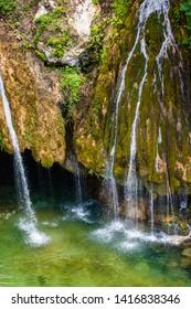 "Waterfall ""Cascade du Saut du Loup"" in France, near to Courmes and Gourdon"