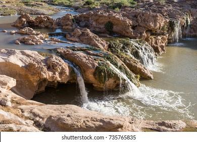 """Waterfall """"Cascade du Tissinnt"""" at Tissinnt at N20, Morocco"""