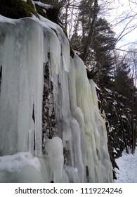 Waterfall cascade in the winter
