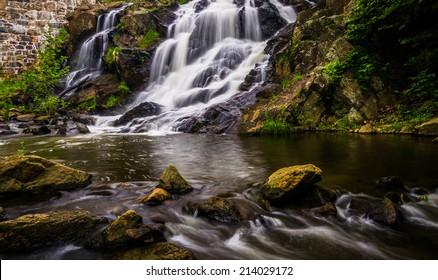 Waterfall and cascades on Antietam Creek near Reading, Pennsylvania.