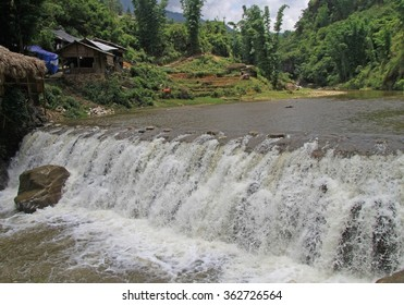 waterfall in CatCat tourist area, the northern Vietnam