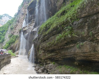 Waterfall in the Caucasus Mountains