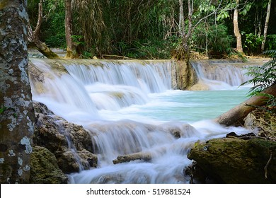 Waterfall at Champasak province, Laos