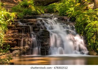 Waterfall close Hamr na Jezere in Czech republic