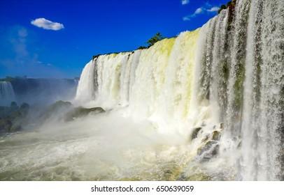 Waterfall close up landscape