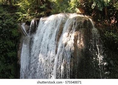 waterfall closeup in wild