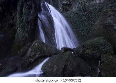 Waterfall of Corraladas in the Province of Alava, Spain