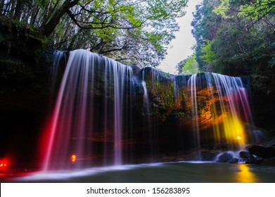 Waterfall deep forest at  Aso of Japan