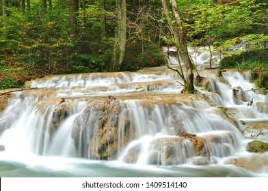 Waterfall in deep forest called Beusnita