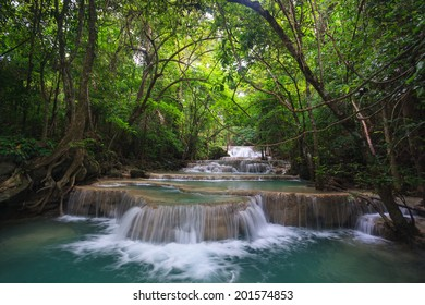 Waterfall in deep forest, national park in Thailand