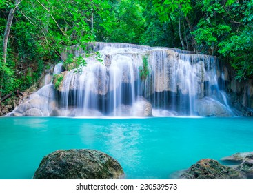 Waterfall in deep forest of National Park