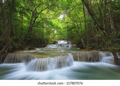 Waterfall in deep national forest