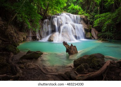 Waterfall in deep natural forest