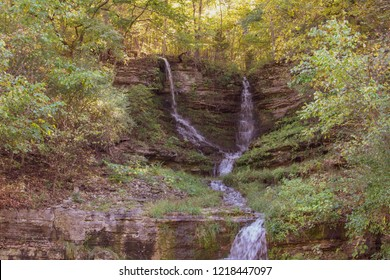 Waterfall in Dogwood Canyon Located outside of Branson Missouri  in the United States.