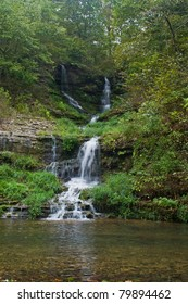 Waterfall at Dogwood Canyon Park Nature Park-Branson, Missouri