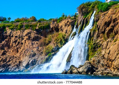 Waterfall Duden at Antalya, Turkey