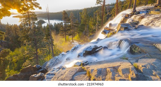 Waterfall at Emerald Bay, Lake Tahoe, USA