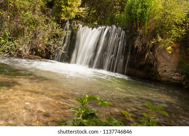 a waterfall at the end of zarzalar route, inspirational environment
