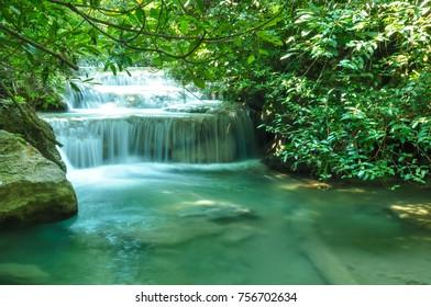 Waterfall in Erawan national park, Karnjanaburi, Thailand